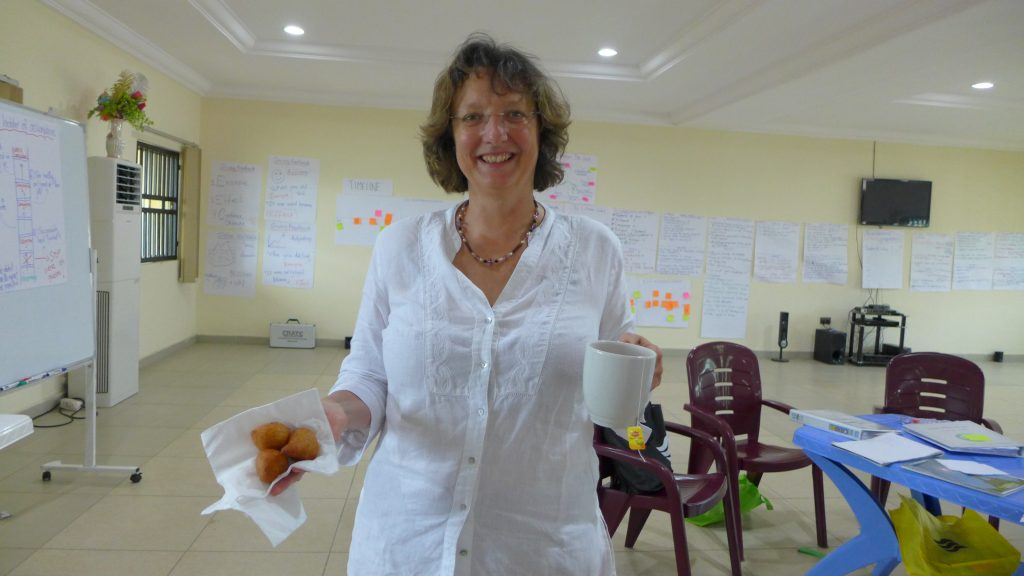 Catherine facilitating a workshop for Sisters of St Louis in Nigeria